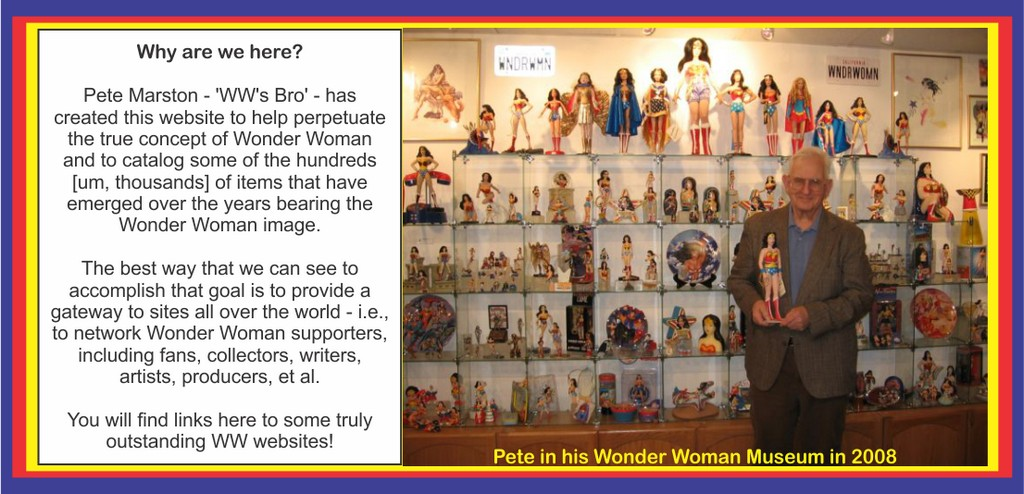 Pete Marston in his Wonder Woman Museum