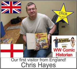 Chris Hayes of Amazon  Archives in the Marston Family Wonder Woman Museum