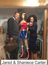 Jared and Shaniece Carter in the Marston Family Wonder Woman Museum