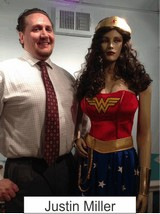 Justin Miller in the Marston Family Wonder Woman Museum