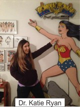 Dr. Katie Ryan in the Marston Family Wonder Woman Museum