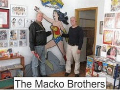 Macko Brothers in the Marston Family Wonder Woman Museum