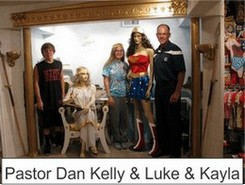 Pastor Dan Kelly in the Marston Family Wonder Woman Museum