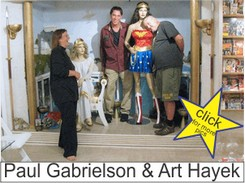 Paul Gabrielson and Art Hayek in the Marston Family Wonder Woman Museum