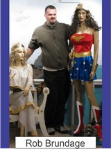 Rob Brundage in the Marston Family Wonder Woman Museum