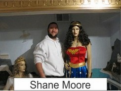 Shane Moore in the Marston Family Wonder Woman Museum