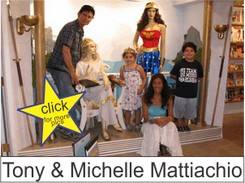 The Mattiachios in the Marston Family Wonder Woman Museum
